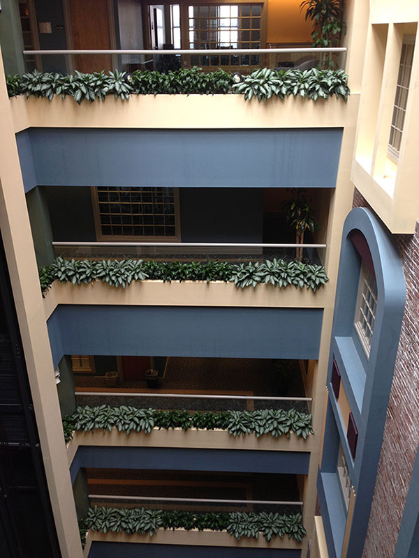 An image of the Thayer Building's atrium